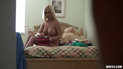 Hot voyeur hidden cam blonde babe